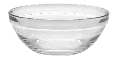 Duralex 511730M95 5-1/2 in Lys Mixing Bowl w/ Stackable Rim, Clear