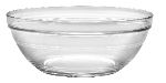 Duralex 511740M93 7-7/8 in Lys Mixing Bowl w/ Stackable Rim, Clear