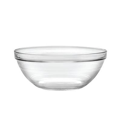 "Duralex 2028AF06/6 9""Lys Mixing Bowl w/ Stackable Rim, Clear"