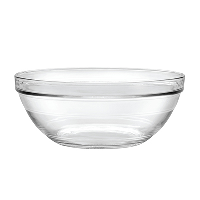 "Duralex 511760M91 10-1/4""Lys Mixing Bowl w/ Stackable Rim, Clear"