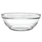 Duralex 511770F25 12 in Lys Mixing Bowl w/ Stackable Rim, Clear