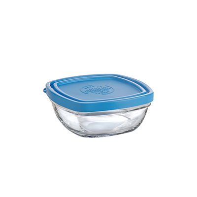 Duralex 513050AB1 4-3/8 in Lys Square Bowl With Lid