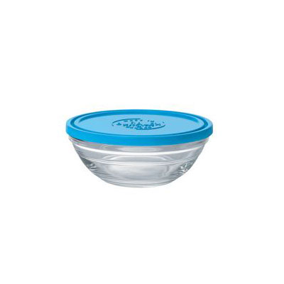 Duralex 9065AM12 0.5-qt Lys Round Storage Bowl w/ Lid, Glass