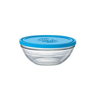 Duralex 9068AM06 2.5-qt Lys Round Storage Bowl w/ Lid, Glass