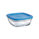 "Duralex A2250CAB1 6-3/4""Lys Square Bowl With Lid"