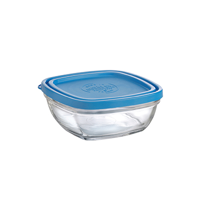 "Duralex A2610CAB1 5-1/2""Lys Square Bowl With Lid"
