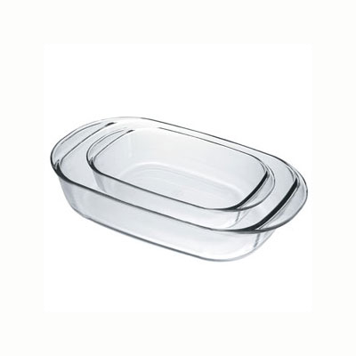 Duralex OC1/2 Rectangular Baking Dish Set - (1) 2.6-qt & (1) 5-qt, Glass