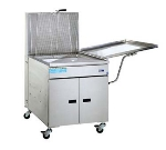 Pitco 24PSS NG 150 lb Donut Fryer, Solid State, Stainless, Drainboard, NG