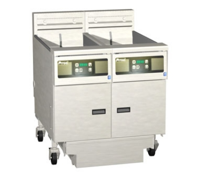 Pitco 2SE18RSSTC-S/FD-4803 (2) 70-90 lb Solstice Fryers & FilterDraw Restaurant Supply