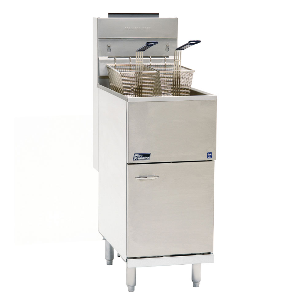 Pitco 35C+S NG Gas Fryer - (1) 35-lb Vat, Floor Model, NG