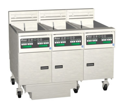 Pitco 3SE18RSSTC-S/FD-2403 (3) 70-90 lb Solstice Fryers & FilterDrawer High Power Solid State 240/3 Restaurant Supply