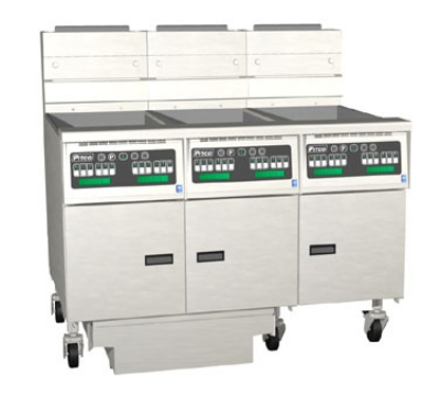 Pitco 3-SG14SSTC-S/FD LP (3) 50 lb Solstice Fryers & FilterDrawer 330,000 BTU Solid State LP Restaurant Supply
