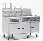 Pitco 3-SG18 S/FD Gas Fryer - (3) 90-lb Vat, Floor Model, NG