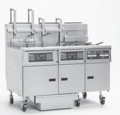 Pitco 3-SG18 S/FD NG1151 Gas Fryer - (3) 90-lb Vat, Floor Model, NG