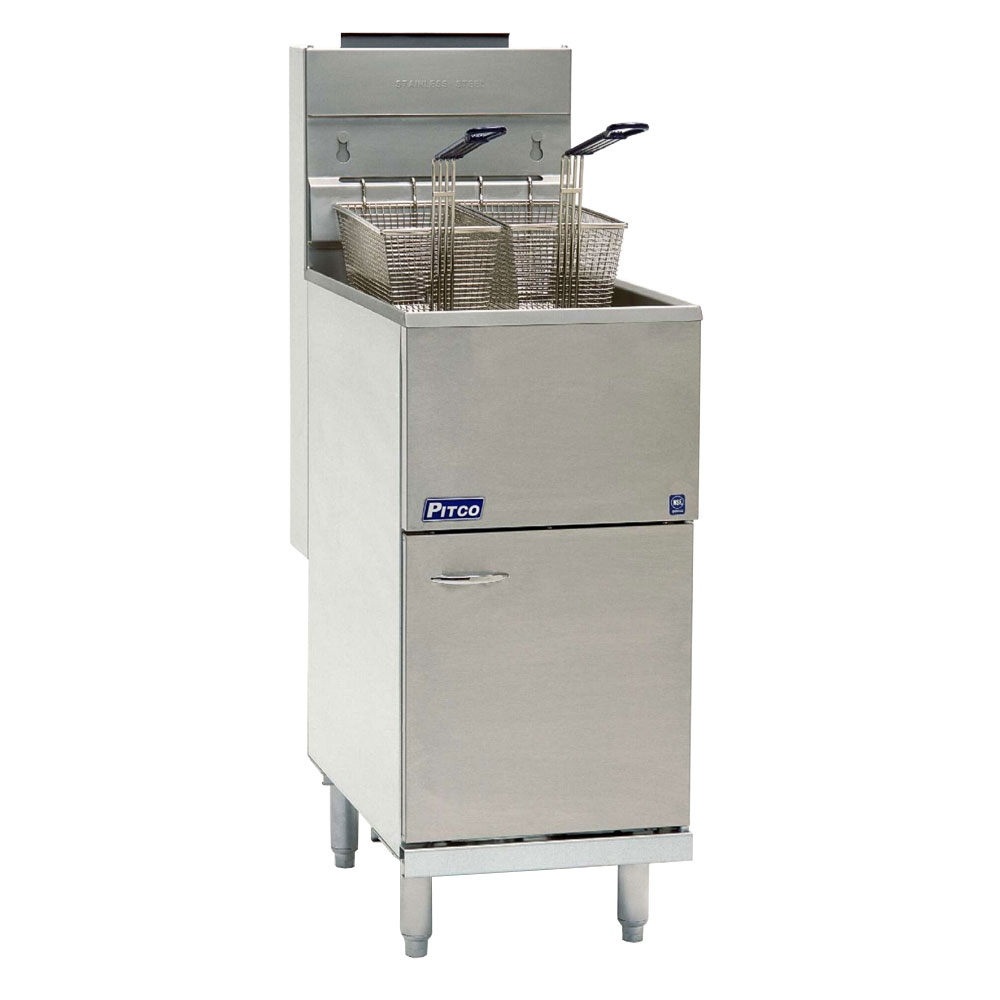 Pitco 40D Gas Fryer - (1) 45-lb Vat, Floor Model, NG