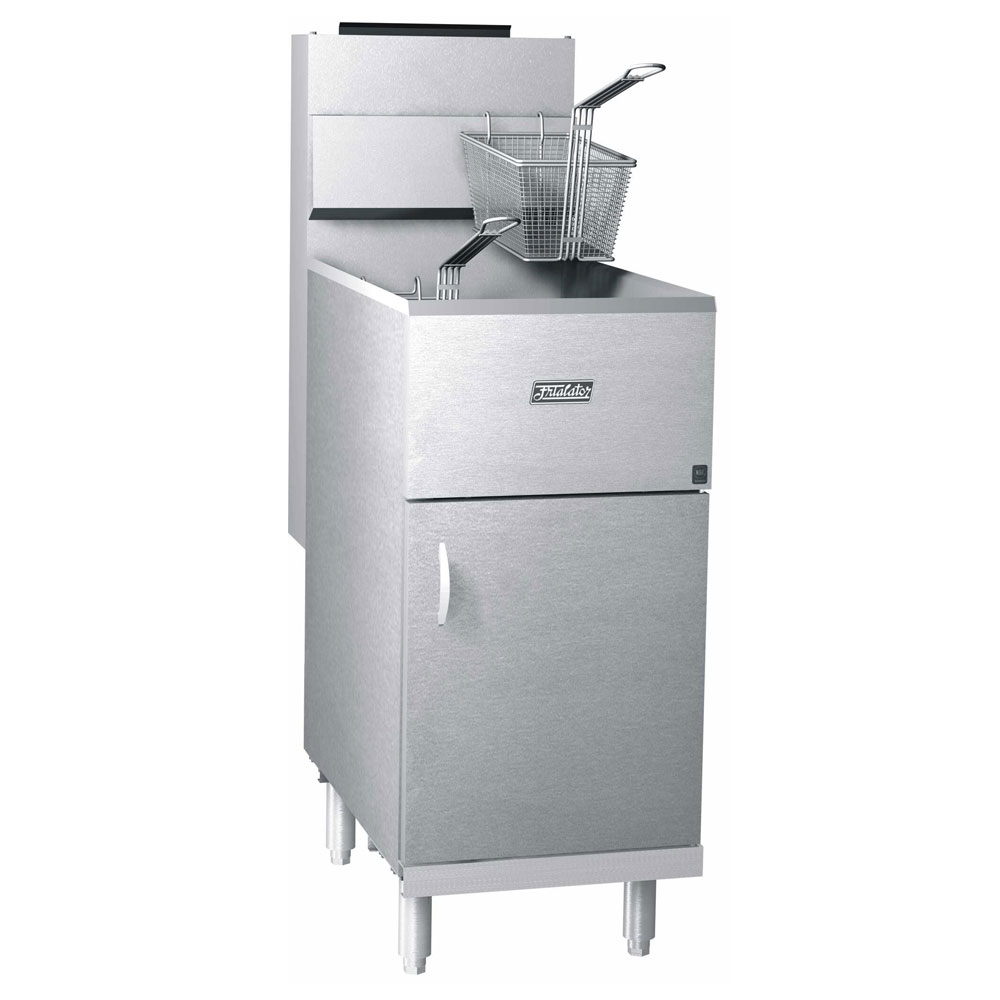 Pitco 40S Frialator Gas Fryer - (1) 45-lb Vat, Floor Model, NG