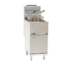 Pitco 45C+S ES LP 42-50 lb Medium-Duty Fryer, Millivolt, Front & Back Door, LP