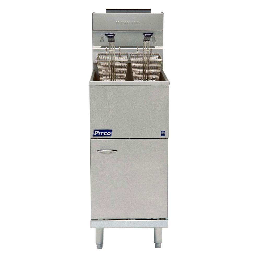 Pitco 45C+S Gas Fryer - (1) 50-lb Vat, Floor Model, LP