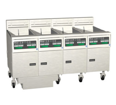 Pitco 4-SE14RC-S/FD-2201 (4) 50 lb Solstice Fryers & FilterDrawer High Power Computer 220/1 Restaurant Supply