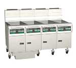 Pitco 4-SSH60WD-S/FD LP (4) 50-60-lb Fryers & Filter Drawer, Digital, 400,000-BTU, LP