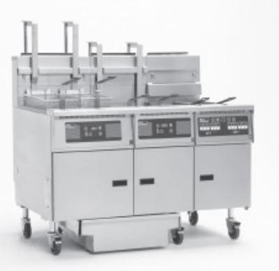 Pitco 5-SG14RC-S/FD (5) 50 lb Solstice Fryers & FilterDrawer Restaurant Supply