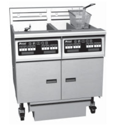 Pitco 6-SE14D-S/FD-2081 (6) 50 lb Solstice Fryers & FilterDrawer Digital 17 Kw Each 208/1 Restaurant Supply