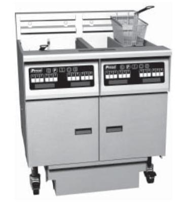 Pitco 6-SE14RC-S/FD-2081 (6) 50 lb Solstice Fryers & FilterDrawer Restaurant Supply