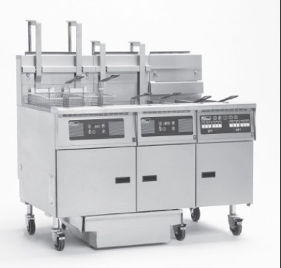 Pitco 6-SG14RSSTC-S/FD NG (6) 50 lb Solstice Fryers & FilterDrawer 732,000 BTU Solid State NG Restaurant Supply