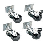 "Pitco B3901501 (4)6"" Swivel Casters for Economy Food Fish Donut Fryers"