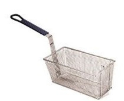 Pitco B4509801 Oblong Pasta Basket, 16.25 in x 6.5 in x 7 in D (2 per tank), Front Handle