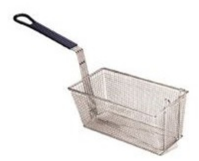 Pitco P6072185 Third Size Fryer Basket, Steel