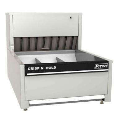 "Pitco PCC-14 14"" Crisp 'N Hold™ Countertop Fry Warmer Dump Station - Underburner, 120v"