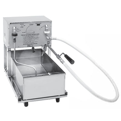 Pitco RP18 75-lb Commercial Fryer Filter, Suction, 120v