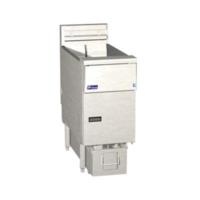 Pitco SE14RS-1FD Electric Fryer - (1) 50-lb Vat, Floor Model, 208v/3ph