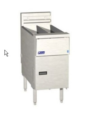 Pitco SE14TR-C-S-2201 (2) 20-25 lb Solstice Fryer 14 in x 18 in Cooking Area Computer 22 Kw 220/1 Restaurant Supply