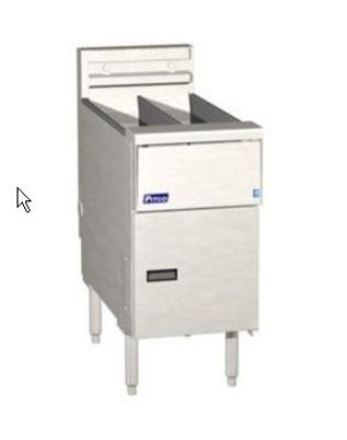 Pitco SE14TXSSTC-S Electric Fryer - (1) 50-lb. Split Pot, Floor Model, 208v/3ph