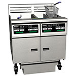 Pitco SE14X-2FD Electric Fryer - (2) 50-lb Vat, Floor Model, 208v/3ph