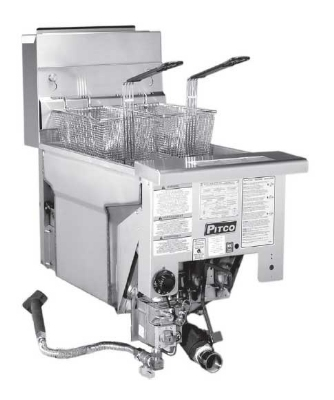 Pitco SG14DIS NG 40-50 lb Solstice Drop In Fryer Single Pot Millvolt 110,000 BTU NG Restaurant Supply