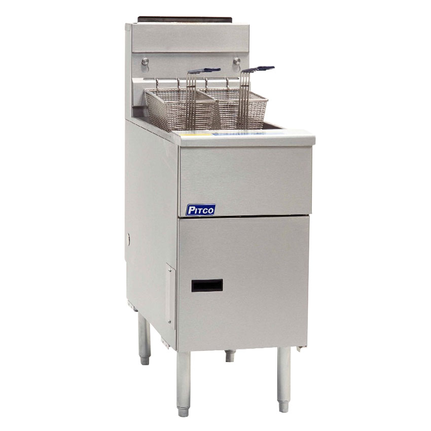 Pitco SG14S Gas Fryer - (1) 50-lb Vat, Floor Model, NG
