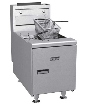 Pitco SGC-S Countertop Gas Fryer - (1) 35-lb Vat, NG