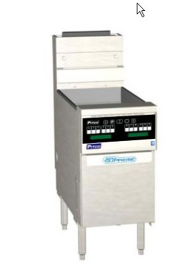 Pitco SSH75-SSTC-S Gas Fryer - (1)75-lb Vat, Floor Model, NG