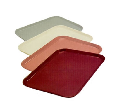 Dinex DX1089I56 Fiberglass Flat Meal Delivery Tray, 14 x 18-in, Mauve