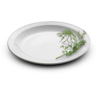Dinex DX9CP02 9-in Embossed Dinner Plate, Ivory