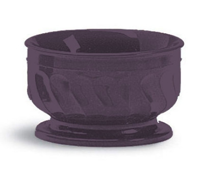 Dinex DX330068 9-oz Insulated Pedestal Base Bowl For Turnbury, Plum