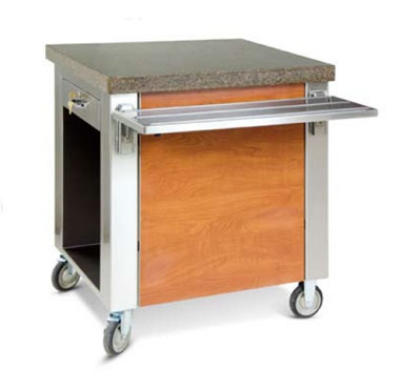 "Dinex DXDCSD 30"" Cashier Stand w/ Drawer, Stainless Top, Front & End Panels"