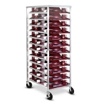 Dinex DXDHOR24U Universal Room Service Cart w/ 1-Compartment, 24 Tray, Angle Slides