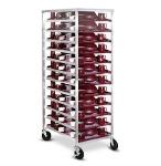 Dinex DXDHOR24U 24-Tray Cabinet Room Service Cart, Aluminum