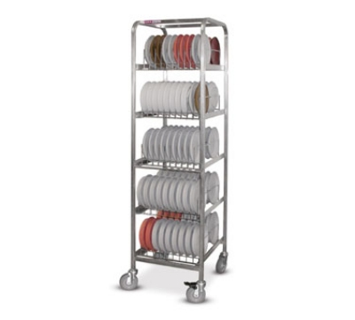 Dinex DXIBDRS90 Drying & Storage Rack w/ 90 Induction Bases Capacity, Stainless