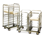Dinex DXICSUU24 46.5-in Suspended Tray Delivery Cart w/ 24 Tray Capacity, Bumper