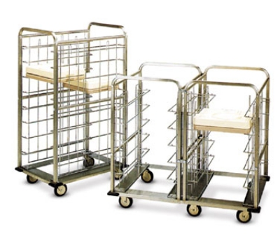 "Dinex DXICSUS24 46.5"" Insulated Suspended Tray Delivery Cart w/ 24 Tray Capacity"